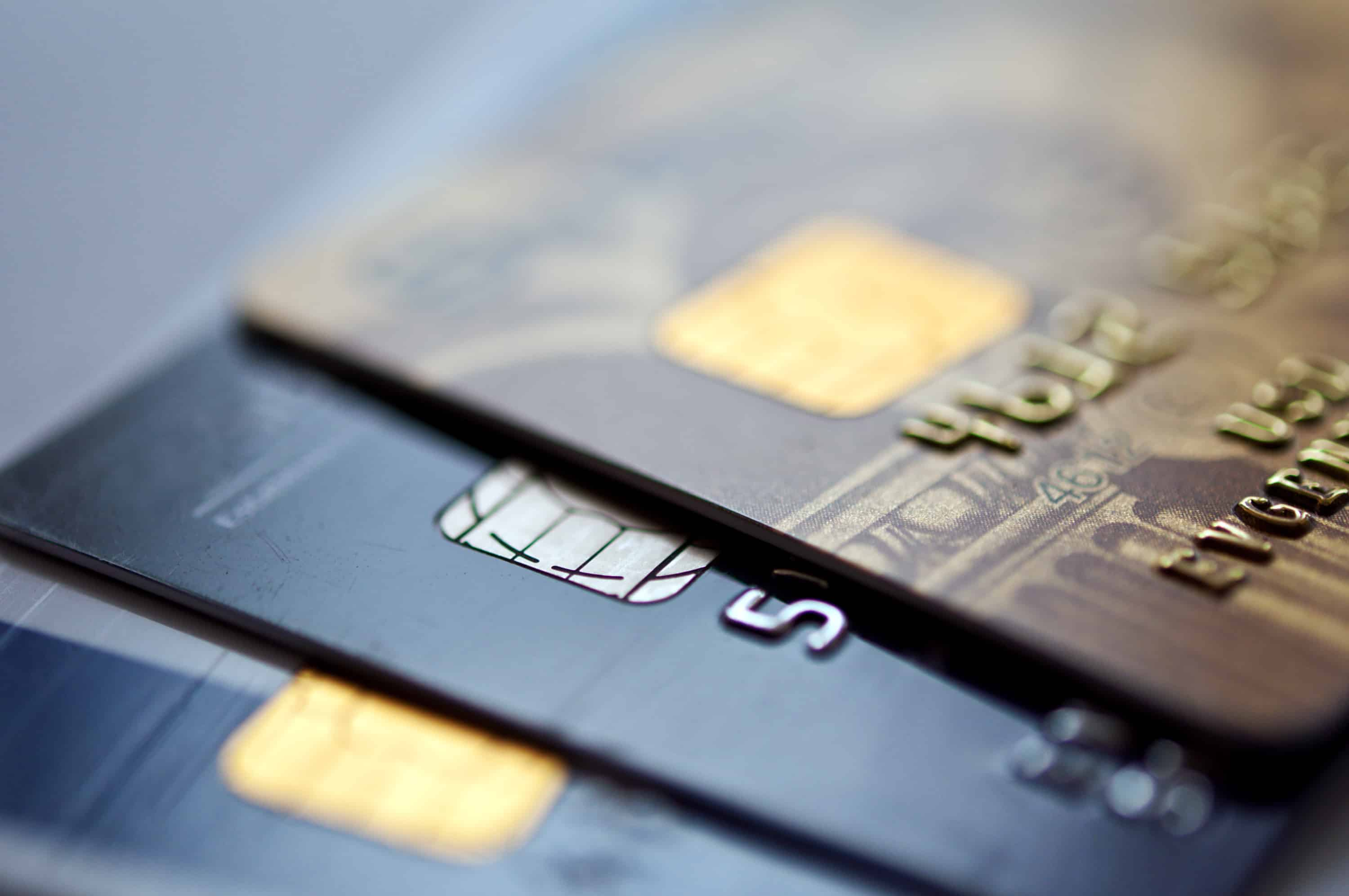 Close-up of credit cards to do a balance transfer